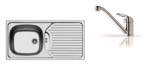 E860 - Dřez s odkapem + baterie Accel Micro