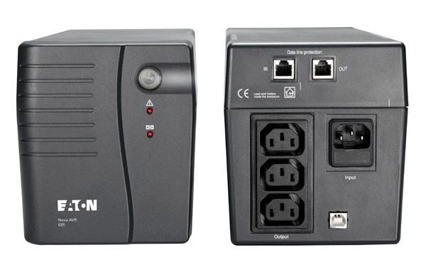 Eaton Nova AVR 625 USB, UPS 625VA, 3 zásuvky IEC