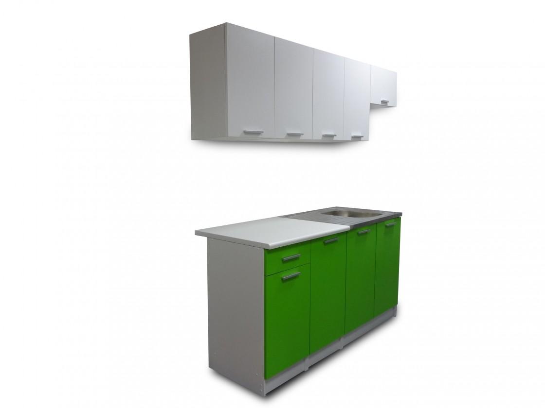 Eco 14 - Kuchyňský blok (bílá / zelená)