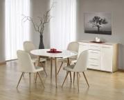 Edward - Jídelní stůl 120-200x100 cm (bílý lak, dub medový)