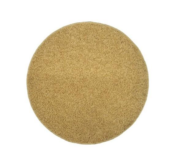 Elite Shaggy - koberec, 120x120 (100%PP shaggy, kulatý, béžová)