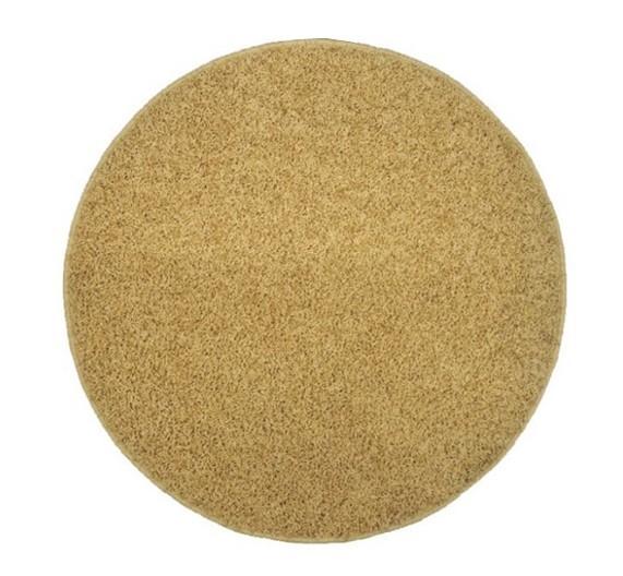 Elite Shaggy - koberec, 160x160 (100%PP shaggy, kulatý, béžová)
