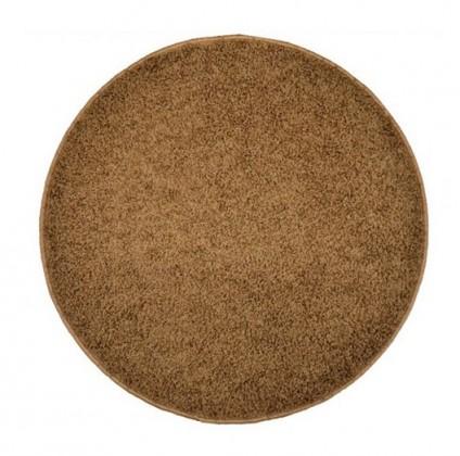 Elite Shaggy - koberec, 160x160 (100%PP shaggy, kulatý, hnědá)