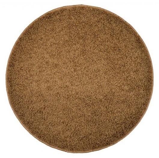 Elite Shaggy - koberec, 200x200 (100%PP shaggy, kulatý, hnědá)