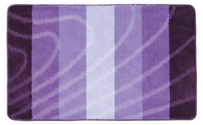 Elli - Koupelnová předložka 60x100 (fialová vlna)