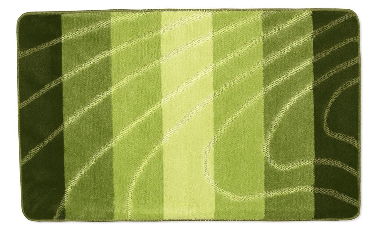 Elli - Koupelnová předložka 60x100 (zelená vlna)