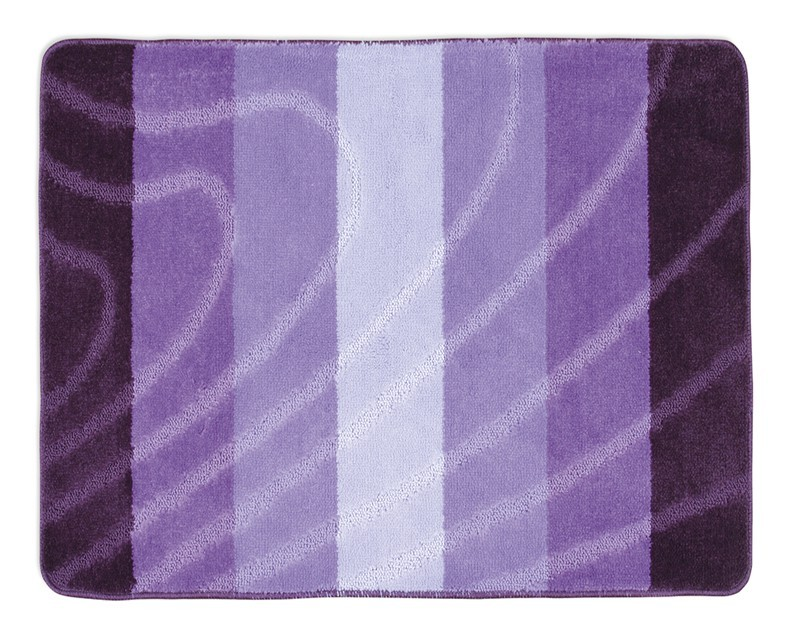 Elli - Koupelnová předložka 60x50 (fialová vlna)