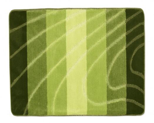 Elli - Koupelnová předložka 60x50 (zelená vlna)