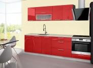 Emilia - Kuchyňský blok B, 200/260 (červená, travertin světlý)