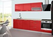 Emilia - Kuchyňský blok E, 220/280 (červená, travertin světlý)