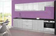 Emilia - Kuchyňský blok H, 300 cm (bílá, PD černá)