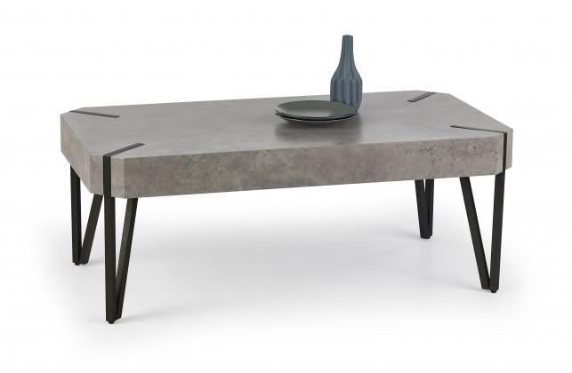 Emily - konferenční stolek beton, černý (beton/černá)