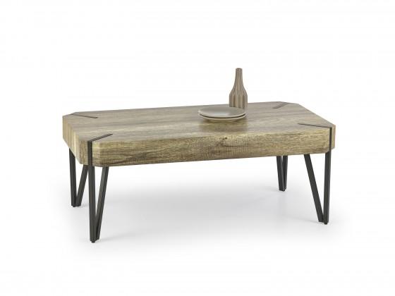 Emily - konferenční stolek dub, černý (dub žíhaný/černá)