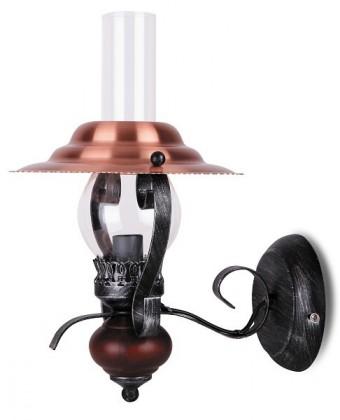 Enna - Nástěnné osvětlení, 7868 (černá/bronzová/vlašský ořech)