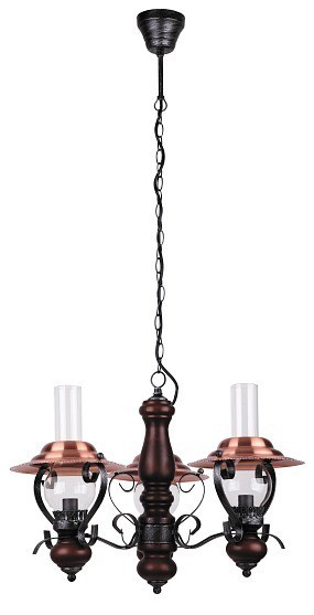 Enna - Stropní osvětlení, 7860 (černá/bronzová/vlašský ořech)