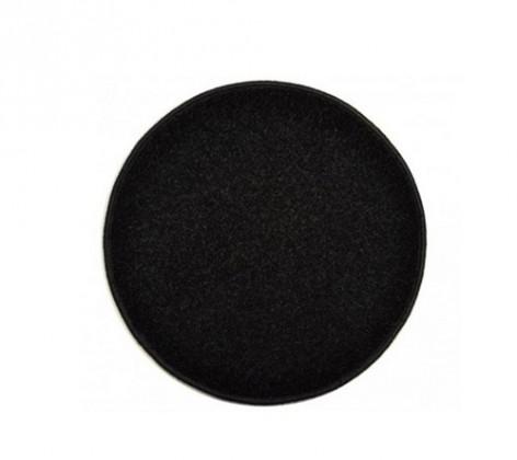 Eton - koberec, 100x100cm (100%PP, kulatý, černá)
