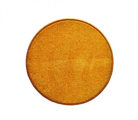 Eton - koberec, 100x100cm (100%PP, kulatý, žlutá)