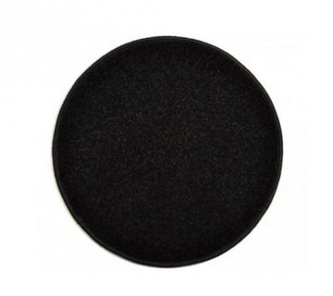 Eton - koberec, 120x120cm (100%PP, kulatý, černá)