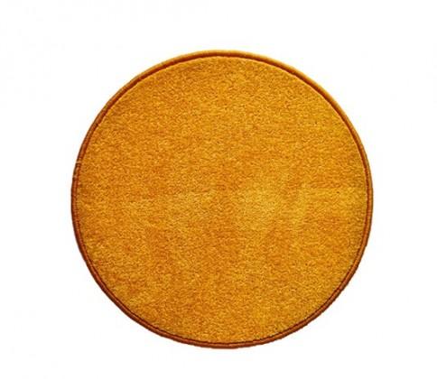 Eton - koberec, 120x120cm (100%PP, kulatý, žlutá)