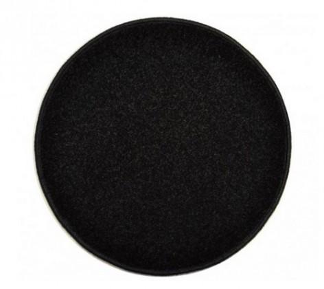 Eton - koberec, 160x160cm (100%PP, kulatý, černá)