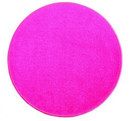 Eton - koberec, 200x200cm (100%PP, kulatý, růžová)