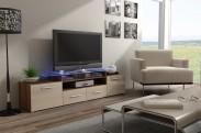 Evora - TV stolek (dekor korpusu - švestka)