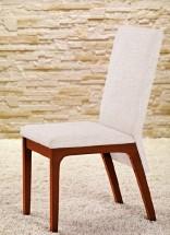 Fabrizio - Jídelní židle (třešeň/eko kůže krémová)