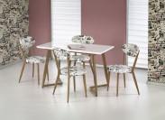 Fiero - Jídelní stůl 120x70 cm (bílá, dub medový)