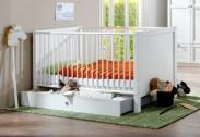 Filou - Dětská postýlka, bočnice, úložný prostor (alpská bílá)