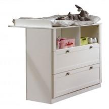 Filou - Přebalovací pult zásuvkový (alpská bílá)