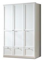 Filou - Skříň třídveřová se zásuvkou (alpská bílá)