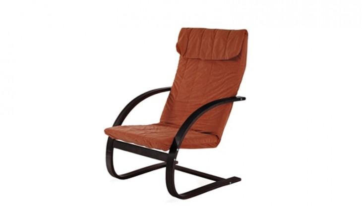Fiori - Křeslo relaxační (ořech / mikroplyš teracota)