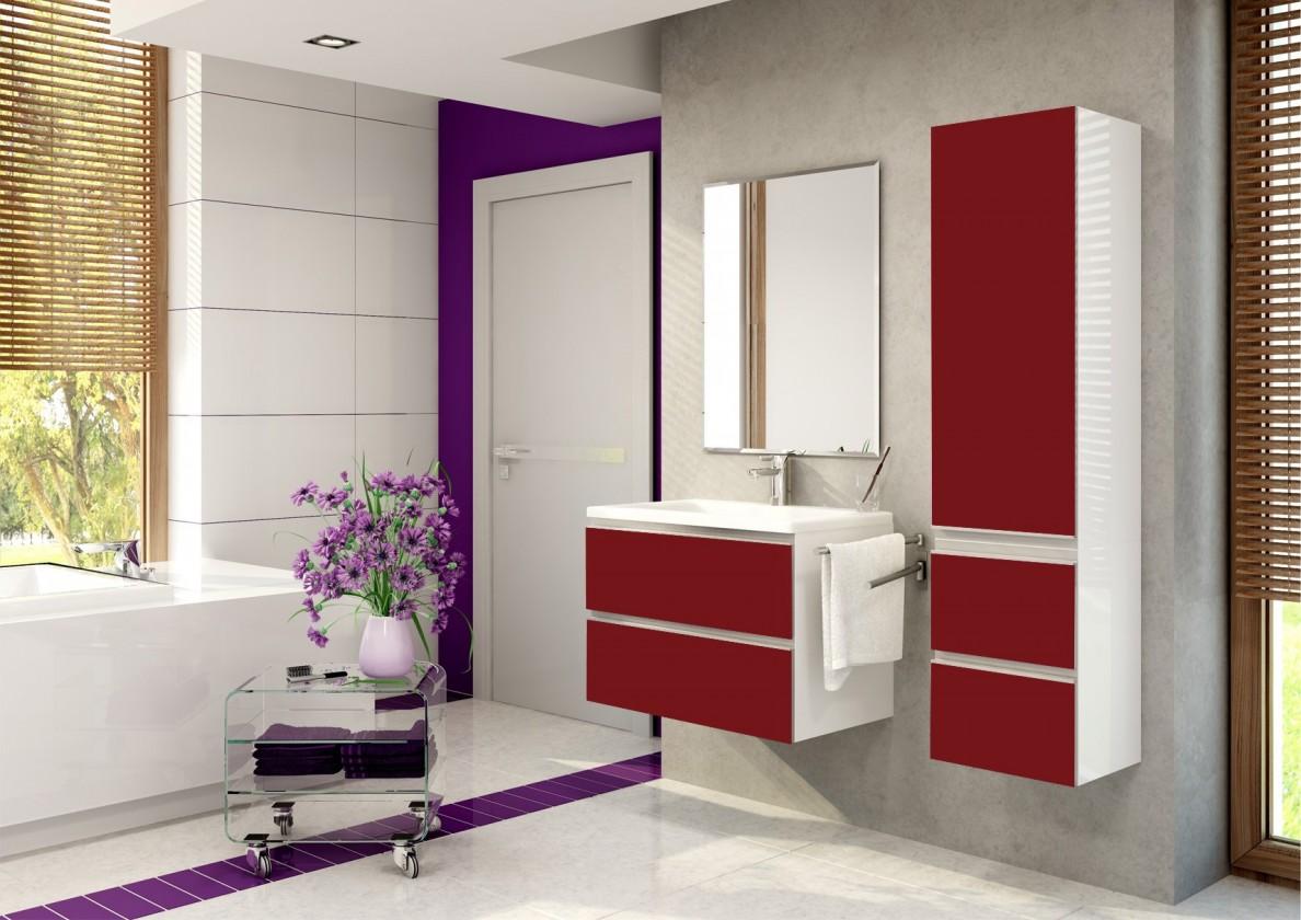 Firenze - Koupelnová sestava (burdeos pearl,boky bílé)