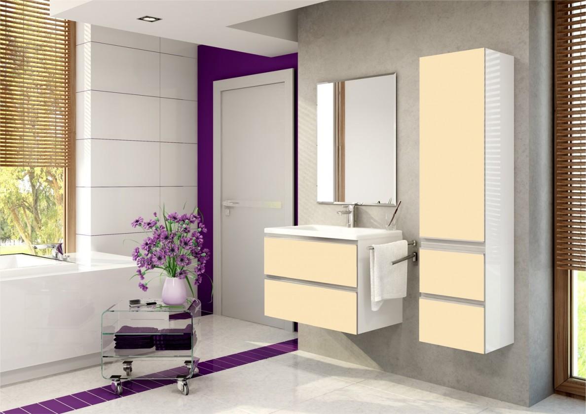 Firenze - Koupelnová sestava (magnolie,boky bílé)