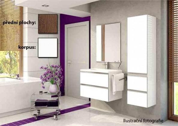 Firenze - Koupelnová sestava (malibu avellana,boky bílé)