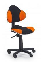 Flash - dětská židle (oranžovo-černá)
