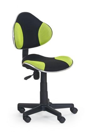 Flash - dětská židle (zeleno-černá)