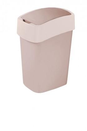 FLIPBIN, 10l (plast,šedo-béžový)