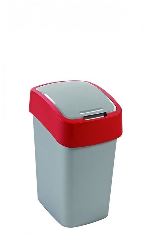 FLIPBIN, 25l (plast,šedo-červený)