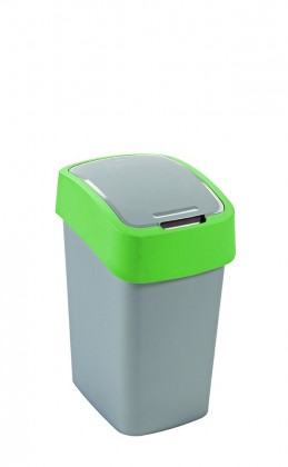 FLIPBIN, 50l (plast,šedo-zelený)
