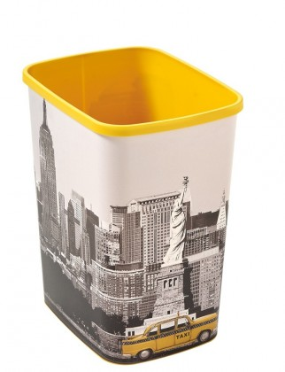 FLIPBIN NEW YORK, bez víka, 25l (plast,New York)