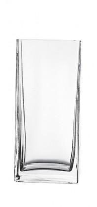 Flora - Váza hranatá, 22 cm (sklo čiré)
