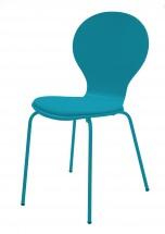 Flower - Jídelní židle, sedák (petrolejová, eko kůže)