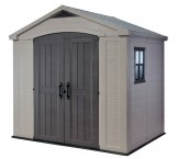 Focus - zahradní domek (182x256,5 cm, béžová/šedohnědá)