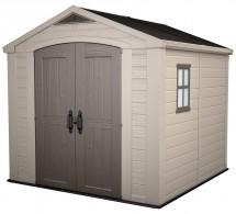 Focus - zahradní domek (255x256,5 cm, béžová/šedohnědá)