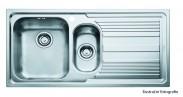 """Franke - dřez nerez LLL 651 2 3 1/2"""", 1000x500 mm (stříbrná)"""
