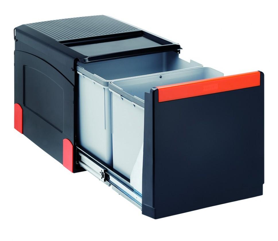 Franke - sorter cube 41 - 2x18 l (černá)