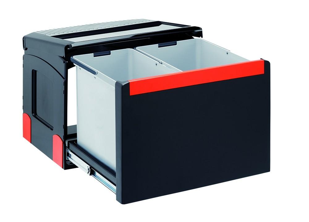 Franke - sorter cube 50 - 1x14 l, 1x18 l (černá)