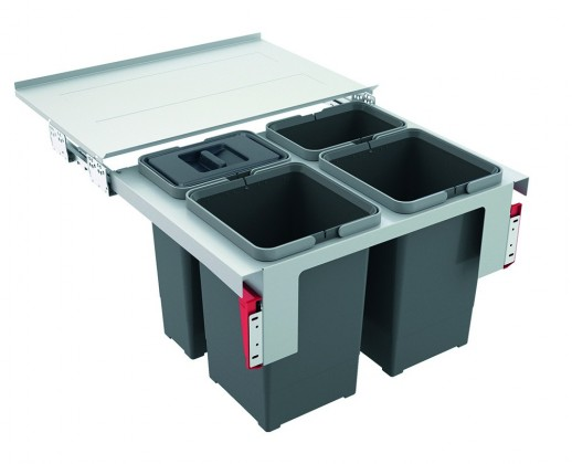 Franke - sorter garbo 60-4 - 2x12 l, 2x8 l (šedá)
