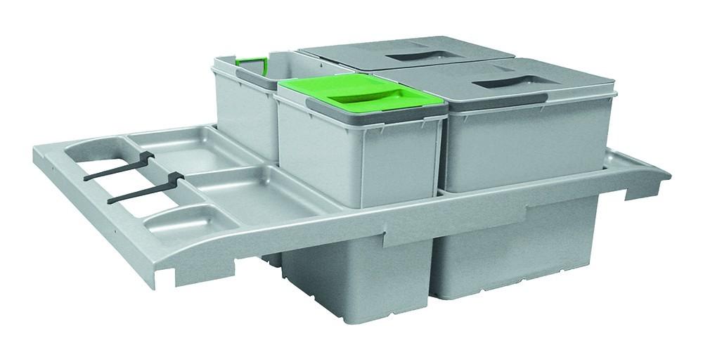 Franke - sorter trolley vario - 2x18 l, 2x8 l (šedá)